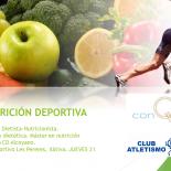 Charla nutrición deportiva por Miquel Pérez