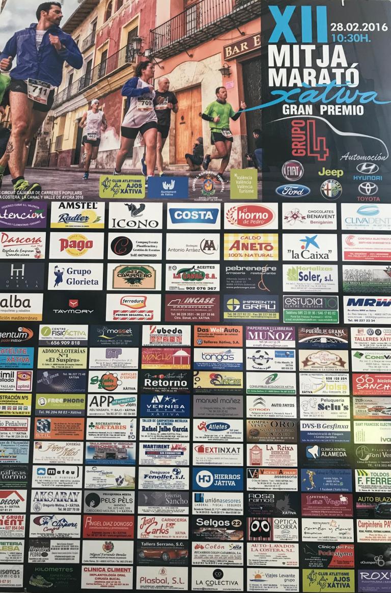 Mitja Marató Xàtiva 2016