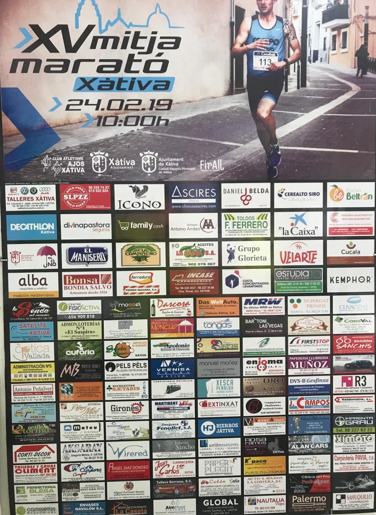 Mitja Marató Xàtiva 2019