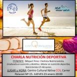 Charla nutrición deportiva el 23 de Enero